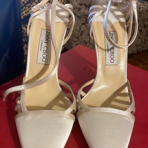 Jimmy Choo white shoes